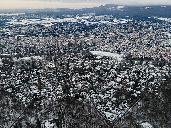 Die verschneite Stadt Bad Homburg im Taunus (15.01.2021)