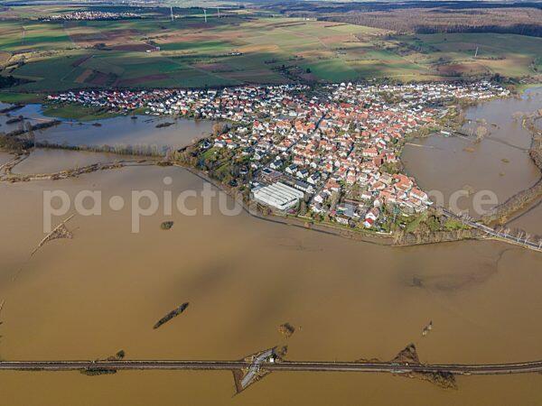 Hochwasser in Hessen (04.02.2021)