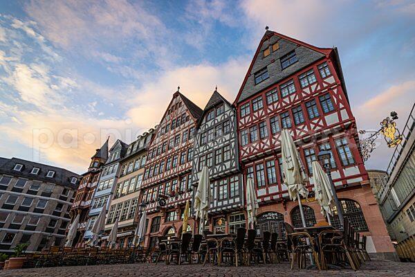 Gastronomie am Römerberg in Frankfurt (26.05.2021)