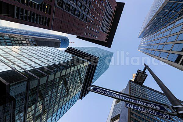 Die Hochhäuser der Frankfurter Skyline (26.05.2021)