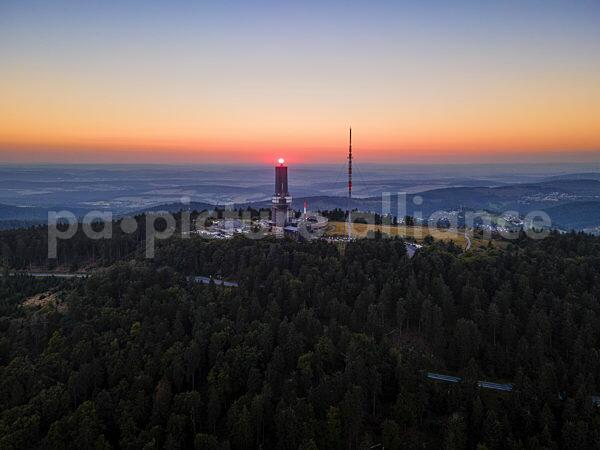 Der Große Feldberg im Taunus bei Sonnenuntergang (03.09.2021)