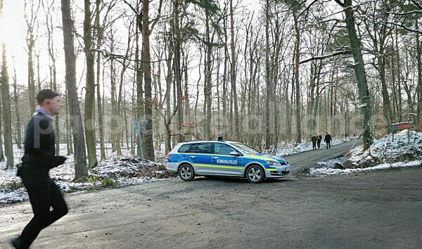 Die Zufahrt zum Winterstein ist durch die Kommunalpolizei gesperrt (10.01.2021)